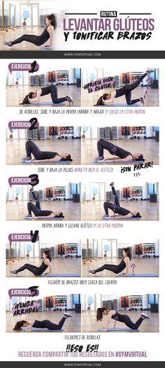 Esta rutina paso a paso consta de 5 ejercicios que podéis perfectamente en casa :) En el primer ejercicio vamos a trabajar los glúteos.