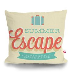 Cushion Cover SUMMER ESCAPE by Sticky!!!
