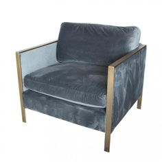 Knox Petrol Velvet Armchair | Occasional Chairs | INTERIORS ONLINE