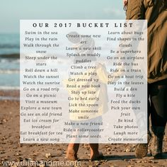 Our Bucket List - www.dilanandme.com - A toddler friendly bucket list full of wonderful adventures and exciting things to do over the next 12 months. Perfect activities for kids, winter activities for toddlers and summer activities for young children. Pin now to save for later!