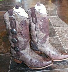 Women's Concho Cowboy Boots 720-344-2073 $285.00
