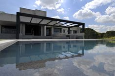 modern architecture - a-cero - concrete house - somosaguas - madrid - spain - exterior view - swimming pool