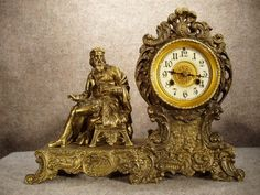 """LEO DI VINCI"" FIGURE CLOCK MADE BY THE WATERBURY CLOCK CO IN WATEBURY CT. CIRCA 1905-1910."