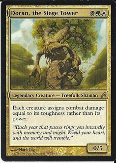 1 Doran Siege Tower MTG Magic The Gathering Black Green White Lorwyn Rare