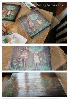 DIY Canvas Wrapped Photos
