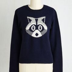 Critters Short Length Long Sleeve I'm With the Bandit Sweater