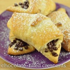 Crescent chocolate chips