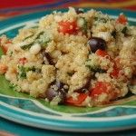 Lemon Garlic Quinoa with White Beans and Olives