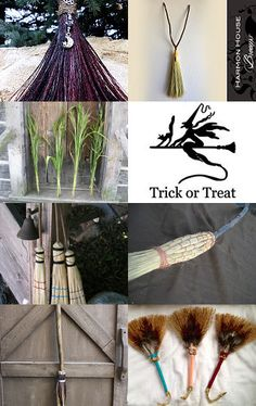 Brooms by Julie Hickman on Etsy--Pinned with TreasuryPin.com