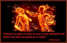 Defeat - Bruce Lee Quote