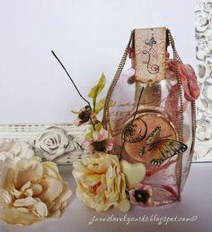 Altered Bottle. Stempelglede :: Design Team Blog. 2014 © Jane Johnson
