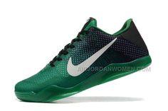 sale retailer 61f3b a89e5 2016 Authentic Nike Kobe 11 XI Elite Low Mens Basketball Shoes Green Black  Sneakers Online Cheap