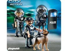 PLAYMOBIL POLICE 5186 COMMANDO DE POLICIERS