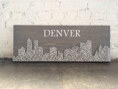 City Skyline String Art  SIZE: 11 x 30  ___________________________________________________________________________  Each sign is hand cut,