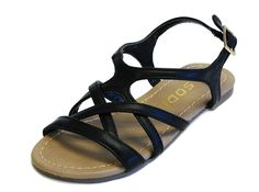 Skimpy JR Little Girls Strappy Gladiator Low Flat Open Toe Sandals -- Hurry! Check out this great product : Girls sandals