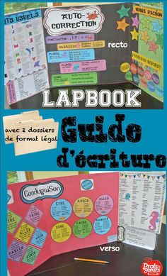 """Guide d'écriture (style """"lapbook"""") pour les élèves. French Teaching Resources, Teaching French, Classroom Tools, Teacher Tools, Writing Lessons, Teaching Writing, Writing Offices, Writing Folders, Interactive Journals"""