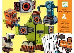 trendy paper toys 'urban robots'