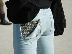 DIY Studded Jeans Back Pocket