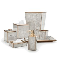 Bathroom Accessories High End siena gold each piece is hand crafted of wood and overlaid with