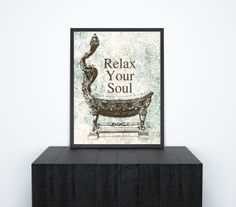 Printable Wall Decor Bathroom Art  Relax Your by ChangingVases, $3.00