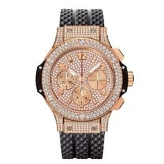 The Big Bang Gold watch by Hublot Hublot Watches, Big Watches, Cool Watches, Watches For Men, Amazing Watches, Luxury Watches, Or Rouge, Big Bang, Unisex