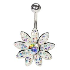 Full Bloom Flower Belly Button Ring