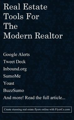 Must Have Marketing Tools for the Modern Real Estate Agent. #RealEstate #Marketing #SocialMedia