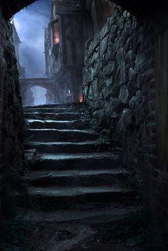 ideas for dark fantasy landscape rpg Fantasy City, Fantasy Places, Fantasy World, Dark Fantasy, Fantasy Setting, Wow Art, Environment Concept Art, Old London, Dark Places