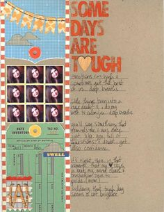 remembering to scrapbook the bad days too (studio calico)