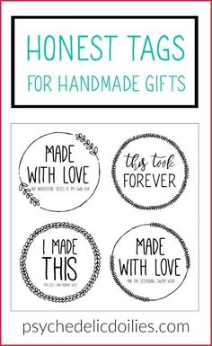 Free Funny Printable Labels for Handmade Gifts
