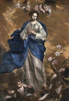 Bernardo Cavallino – Immacolata, 1647, Oil on canvas, 165x115 cm | Pinacoteca di Brera, Milano