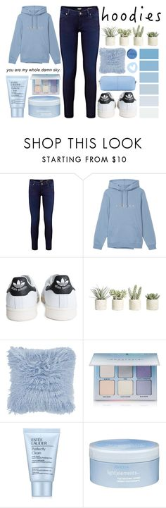 """In My Hood: Cozy Hoodies"" by a-hidden-secret ❤ liked on Polyvore featuring adidas, Allstate Floral, A by Amara, Anastasia Beverly Hills, Estée Lauder, Aveda, KC Jagger and Hoodies"