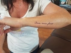 """All things happen for a reason. ""All things happen for a reason. ""All things happen for a reason. Fake Tattoos, Mom Tattoos, Body Art Tattoos, Small Tattoos, Italian Quote Tattoos, Tattoos That Mean Something, Tree Tattoo Arm, Health Tattoo, Cute Tattoos For Women"