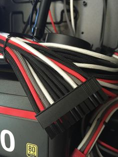 Custome PSU cable sleeving. I did this one! #stopmakingexcuses #pintowin #BLACKandDECKER