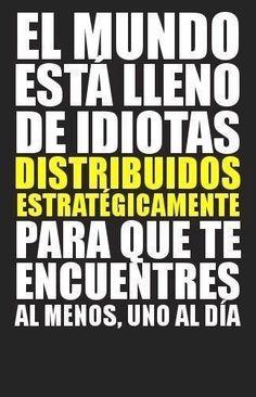 La distribución de los idiotas