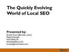 The Quickly Evolving World of Local SEO