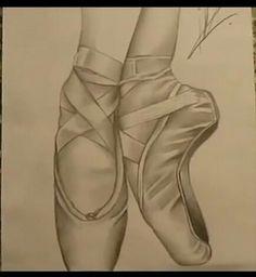 De schoenen van het filmpje die ik wou na tekenen.