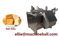 Fish Tofu Frying Machine http://www.fried-machinery.com/products/pasta-snacks-fryer/fish-tofu-fryer.html