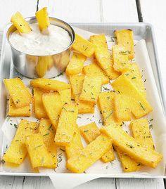 stuzzichini di polenta al forno