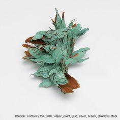Attai Chen, Brooch, Paper, Paint, Glue, Silver, Brass, Stainless Steel.