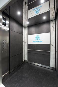 Thyssenkrupp Elevator India Pvt Ltd, Bangalore - Display Centre Elevator Design, Spectrum Glass, Visualization Tools, Lift Design, Led Down Lights, Alphabet Activities, Downlights, Satin Finish, Outdoor Lighting