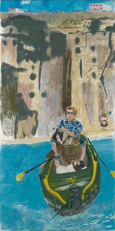 'Rowing from Ericeira' (2014), Paula Rego. Courtesy of Marlborough Fine Art, Photography by Prudence Cumming Associates Ltd http://www.apollo-magazine.com/review-paula-regos-powerful-pastels-marlborough-fine-art/