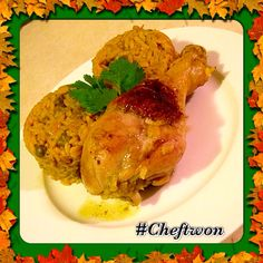 This is my Rican inspired arroz con pollo de granules , can yu say flavor packed and fun to make
