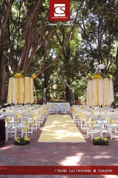 Ceremonia Civil, boda amarilla. Graciela & Gerardo.
