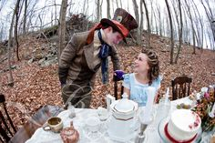 Alice in wonderland engagement photography- this is how I will know if I have found my future husband.. if he's game.