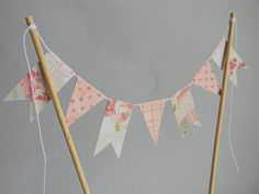 Bunting Wedding Cake Topper ///READY TO SHIP/// by ApplesModernArt, $14.00