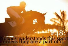 When I ride. I'm free. I know that the horse in on can kill me, do I let that stop me? No. I love this sport so much that I will put my own life at risk just to get a blue ribbon or a perfect striding. You'll never know how much this sport means to me. I'll always ride, no matter the weather, my age, if I'm hurt or even if I'm fine. No one can stop me from riding to my hearts content. -Samantha Thomson 2014