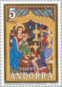 Stamp%3A%20Scenes%20from%20the%20Bible%20(Andorra%2C%20Spanish%20Administration)%20(Christmas)%20Mi%3AAD-ES%2087%2CSn%3AAD-ES%2078%2CYt%3AAD-ES%2080%2CEdi%3AAD-ES%2088%20%23colnect%20%23collection%20%23stamps