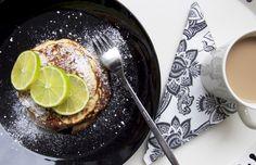 Lemon Ricotta Banana Pancakes / Sitruuna-ricotta-banaaniletut