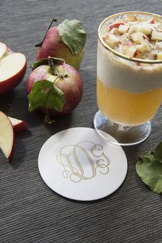 Monogram Coasters, Personalized Coasters, Custom Coasters, Apple Cider Cocktail, Cider Cocktails, Good Ole, Foil Stamping, Chipboard, Letterpress